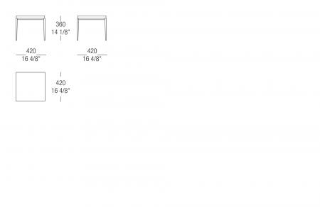 Small table W. 420 matt lacquer top