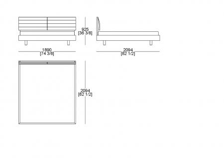 Customer bedspring (mattress W. 1600 x D. 2100 mm)