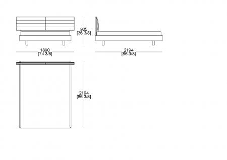 Customer bedspring (mattress W. 1600 x D. 2000 mm)
