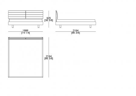 Customer bedspring (mattress W. 1800 x D. 2100 mm)