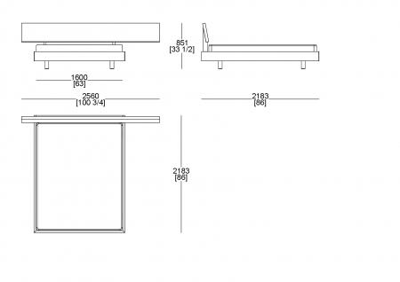 Letto rete cliente (materasso L. 1600 x P. 2000)
