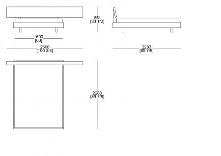 Letto rete cliente (materasso L. 1600 x P. 2100)