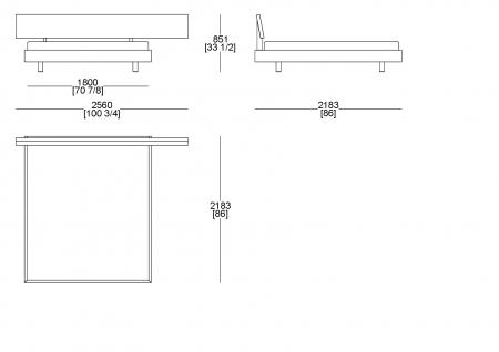 Letto rete cliente (materasso L. 1800 x P. 2000)