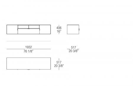 Low hanging sideboard