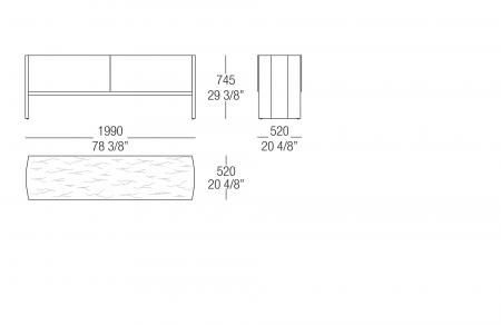 Low sideboard - Marble top