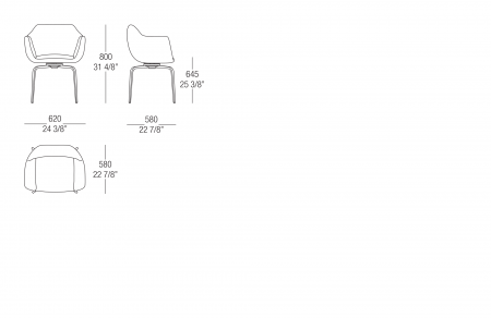 Chair with metal swivel base